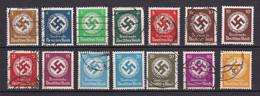 Deutsches Reich - 1934 - Dienstmarken - Michel Nr. 132/143 - Gestempelt/Ungebr. - Officials