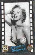 Telephone Card - Legends Of Holllywood #08 - 20 Units Phone Card Showing Marilyn Monroe (black & White Half-length) - Cinema