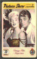Telephone Card - Picture Show 20 Units Phone Card Showing Marilyn Monroe & Robert Mitchum In A Scene From River Of No Re - Cinema