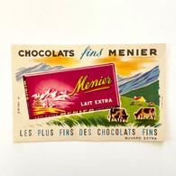 Chocolat Fins Meunier - Lait Extra - Buvard Ancien - Illustration A. Helbé - Cocoa & Chocolat