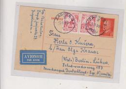 YUGOSLAVIA,1955  ZAGREB Airmail Postal Stationery To Germany - Brieven En Documenten