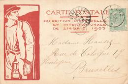 Expo. Universelle Et Internationale De LIEGE 1903 - Carte Circulé En 1900 - Liege