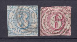 Thurn Und Taxis - 1860 - Michel Nr. 21/22 N4 - Gestempelt - 60 Euro - Thurn And Taxis