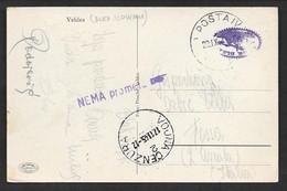 1945 TIMBRO VOJNA CENZURA NEMA PROMETA ON CARD VELDES (BLED) SLOVENIJA N°C134 - Lettres & Documents
