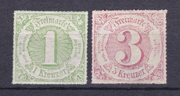 Thurn Und Taxis - 1866 - Michel Nr. 51/52 - Ungebr. - Thurn And Taxis