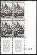 France 1951 - Coin Daté - Yvert Nr. 917 - Michel Nr. 936 ** - 1950-1959