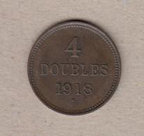 Guernsey Coin 4 Double 1918 - Guernsey