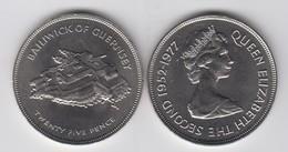 Guernsey 1977 Royal Silver Jubilee - Crown Coin - Guernsey