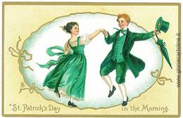 08064 -  VINTAGE POSTCARD --- ST. PATRICK'S DAY - EMBOSSED- TUCKS - Saint-Patrick's Day