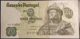 Portugal P 173 20 Escudos 1971 Banknote Garcia De Orta SEE SCAN VG84851 XF+ - AUNC - Portugal