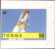 TONGA Cromalin Proof 1995 - Space Shuttle - Oceania