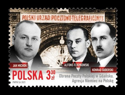 Poland 2021 Mih. 5319 World War II. Defence Of The Polish Post Office In Danzig MNH ** - Nuovi