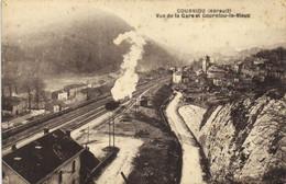 COURNIOU  Vue De La Gare (train) Et Courniou Le Vieux RV - Altri Comuni