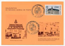 """FRANCE - Carte Commémorative """"Inauguration Du Bureau De Poste De VIROFLAY (78)"""" 1/12/1990 - Cachets Commémoratifs"""