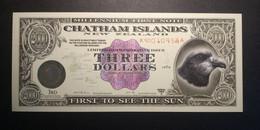 New Zealand 1999: Chatham Islands 3 Dollars UNC - New Zealand