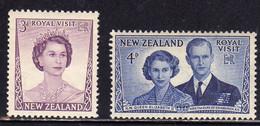 NEW ZEALAND NUOVA ZELANDA 1953 VISIT OF QUEEN ELIZABETH AND DUKE OF EDINBURGH COMPLETE SET SERIE COMPLETA MNH - Unused Stamps