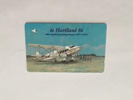 (1 A 34) Collector Telephone Card - De Havilland Aircraft (Jersey) - Aerei