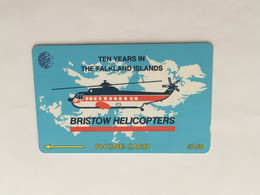 (1 A 34) Collector Telephone Card - Bristow Helicopters (Falkland Islands) - Aerei