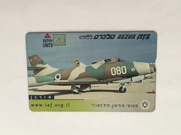 (1 A 34) Collector Telephone Card - Jet Fighters Aircraft (Israel ?) 20 Units - Aerei