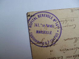 MARSEILLE  -  13  -  Rue De La République  -  Cachet Hôpital Bénévole 14 Bis  -  1914  -  Bouches Du Rhône - Canebière, Centro Città