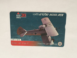 (1 A 34) Collector Telephone Card - Military Aircraft (Israel ?) 20 Units - Aerei