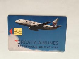 (1 A 34) Collector Telephone Card - Croatia Airlines (Croatia ?) - Aerei