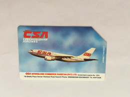 (1 A 34) Collector Telephone Card - CSA Airline (Pakistan ) - Aerei