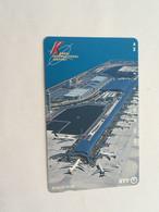 (1 A 34) Collector Telephone Card - Kansai International Airport (Japan ) - Aerei