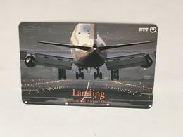 (1 A 34) Collector Telephone Card - Osaka International Airport (Japan ) Landing - Aerei