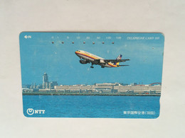 (1 A 34) Collector Telephone Card - Aircraft Taking Off (Japan ) - Aerei