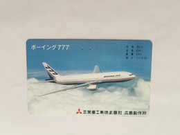(1 A 34) Collector Telephone Card - Boeing 777  (Japan ) - Aerei