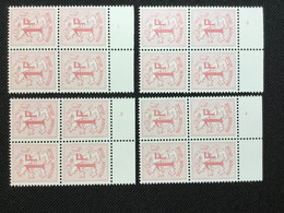 BELGIQUE BELGIE OCB 1027BP3** MNH. PLANCHE 1-2-3-4. - ....-1960