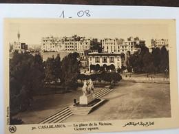 Cpa De 1930, Maroc, CASABLANCA, La Place De La Victoire, Photo Flandrin, écrite - Casablanca
