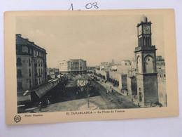 Cpa,MAROC, CASABLANCA La Place De France, Photo Flandrin,N° 18, Non écrite - Casablanca