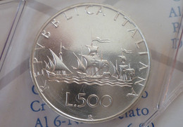ITALIA 500 LIRE ARGENTO 1995 CARAVELLE FDC SIGILLATE DA SET ZECCA - 500 Lire