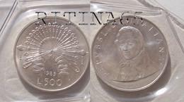 ITALIA 500 LIRE ARGENTO 1985 MANZONI FDC SIGILLATA DA SET ZECCA - 500 Lire
