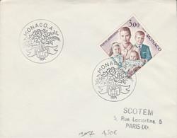 MONACO FDC 1966 FAMILLE PRINCIERE - FDC