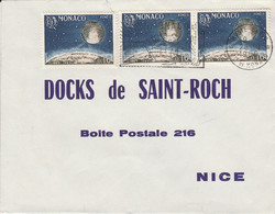 MONACO AFFRANCHISSEMENT COMPOSE SUR LETTRE POUR LA FRANCE 1965 - Postmarks