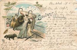 Belgique - Souvenir D' Ostende - Litho N° 20 - Petite Déchirure En Haut à Droite - Oostende
