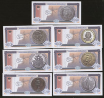Che Series 2012 Set Of 7 Notes Featuring Che Guevara UNC - Cuba