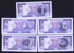 Bicentennial Independence 2012 Set Of 5 Featuring Simon Bolivar Etc UNC - Cuba