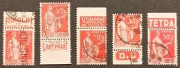 Timbres De Carnets  N° 283 (différents Types) Avec Oblitération D'Epoque  TB - Usados Corriente