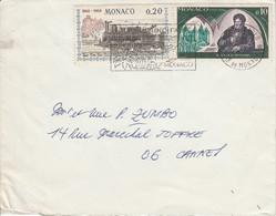 MONACO AFFRANCHISSEMENT COMPOSE SUR LETTRE POUR LA FRANCE 1969 - Postmarks