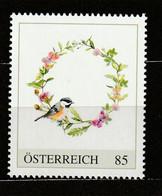 Österreich Personalisierte BM Vogelaquarell Blaumeise ** Postfrisch - Private Stamps