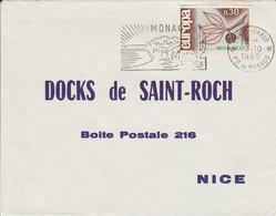 MONACO SEUL SUR LETTRE POUR LA FRANCE 1965 - Postmarks