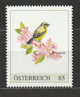 Österreich Personalisierte BM Vogelaquarell Vogel Mit Zweig ** Postfrisch - Private Stamps