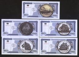 Cuban Ships 2011 Set Of 5 Featuring Cuban Ships On Coins UNC - Cuba