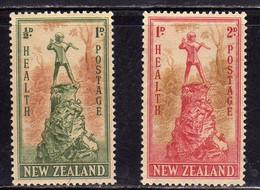 NEW ZEALAND NUOVA ZELANDA 1945 PETER PAN STATUE LONDON COMPLETE SET SERIE COMPLETA MNH - Unused Stamps