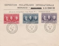 MONACO EXPOSITION PHILATELIQUE INTERNATIONALE 1928 - Poststempel