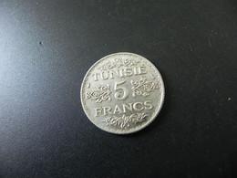 Tunisie 5 Francs 1936 Silver - Tunisia